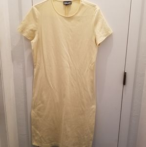 Lands' End yellow pullover dress short sleeve